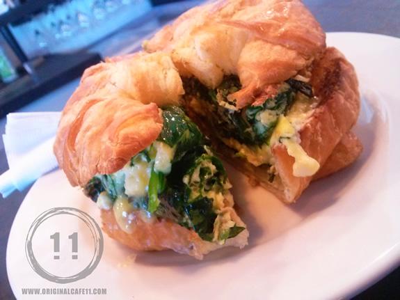 Feta Spinach Egg Sandwich