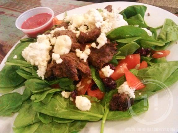 Steak & Spinach Salad