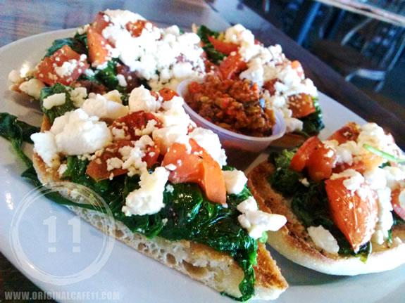 Tomato, Spinach Appetizer