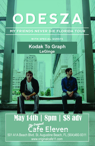 Odesza with Special Guest Kodak To Graph LeGinge